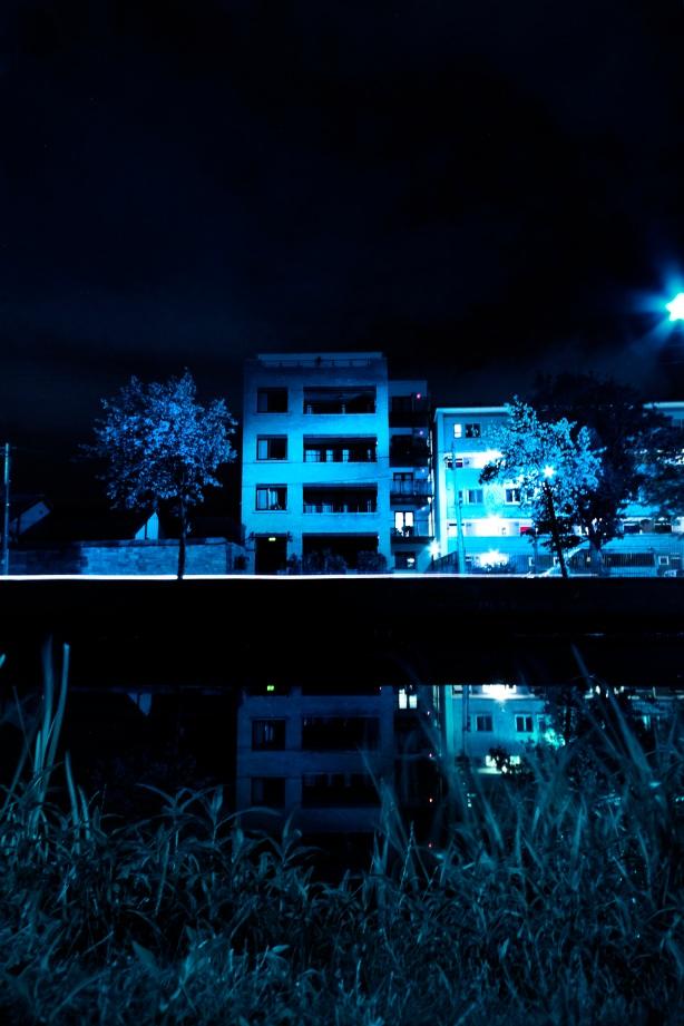 Creepy Blue Buildings
